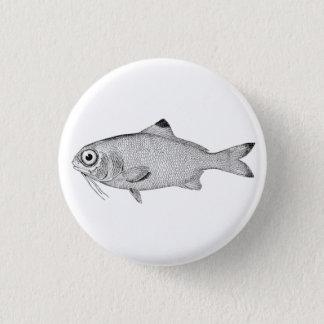 Strange vintage fish drawing 1 inch round button