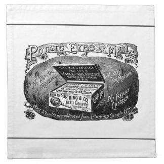 Strange vintage potato advert napkin