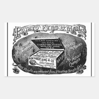 Strange vintage potato advert sticker