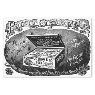 Strange vintage potato advert tissue paper