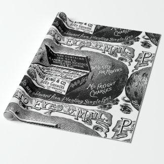 Strange vintage potato advert wrapping paper