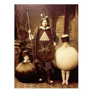 Strange Vintage Victorian Costume Party Postcard