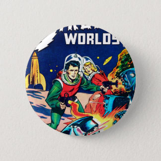Strange Worlds -- Angry Robots 2 Inch Round Button