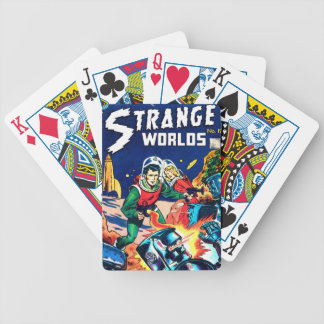 Strange Worlds -- Angry Robots Bicycle Playing Cards