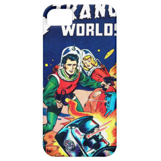 Strange Worlds -- Angry Robots iPhone 5 Cover