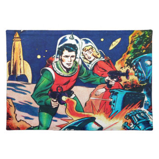 Strange Worlds -- Angry Robots Placemat