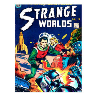 Strange Worlds -- Angry Robots Postcard
