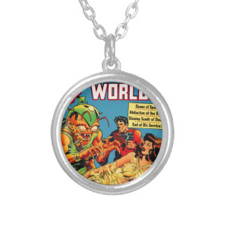 Strange Worlds -- Space Princess Silver Plated Necklace