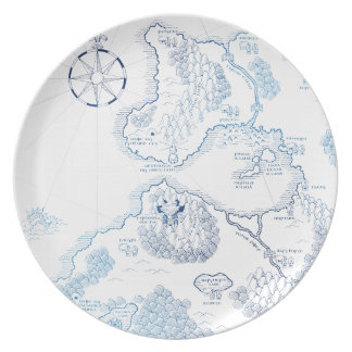 < Strange worldwide map - blue >Another world map Party Plate