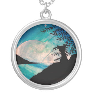 Stranger on this planet silver necklace