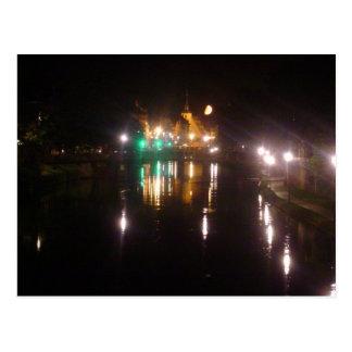 Strasbourg by night postcard