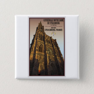 Strasbourg - Cathedral Notre Dame 2 Inch Square Button