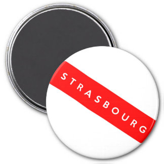 strasbourg city france country flag text name magnet