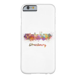 Strasbourg skyline in watercolor barely there iPhone 6 case