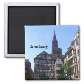 Strasbourg - square magnet