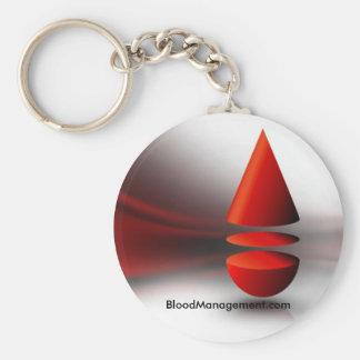 strategic blood management basic round button keychain