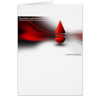 strategic blood management greeting card