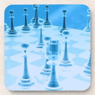 Strategic Chess Play Cork Coaster