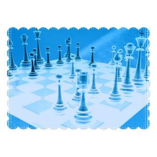 Strategic Chess Play 5x7 Paper Invitation Card