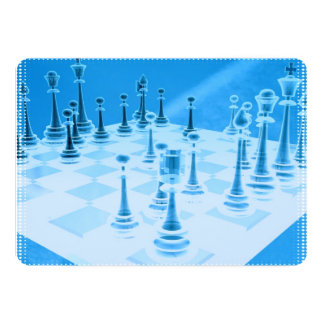 "Strategic Chess Play 5"" X 7"" Invitation Card"