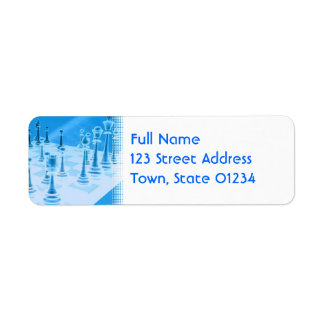 Strategic Chess Play Mailing Label Return Address Label