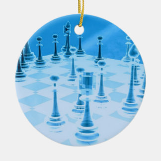 Strategic Chess Play Ornament