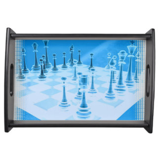Strategic Chess Play Serving Trays
