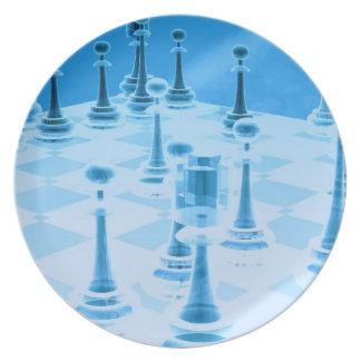 Strategic Chess Play Plate