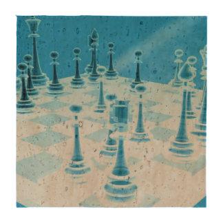 Strategic Chess Play Beverage Coaster