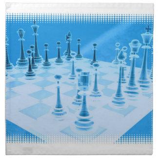Strategic Chess Play Set of Four Napkins