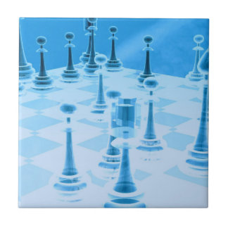 Strategic Chess Play Tiles or Trivets