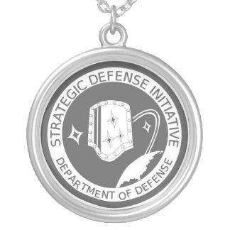 Strategic Defense Initiative Organization Round Pendant Necklace