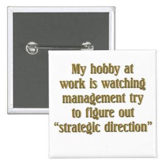 Strategic Direction 2 Inch Square Button