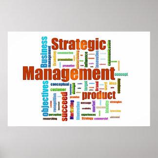 Strategic Management Design Orange Poster