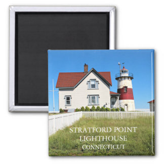 Stratford Point Lighthouse, Connecticut Square Magnet