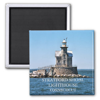 Stratford Shoal Lighthouse, Connecticut Square Magnet