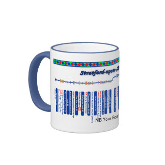 Stratford-upon-Avon Canal Route Map Blue Ringer Coffee Mug