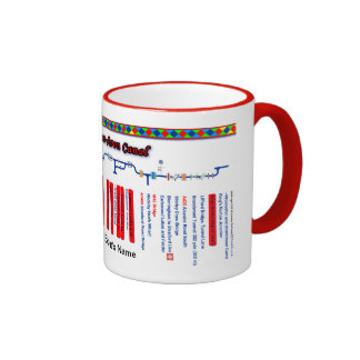 Stratford-upon-Avon Canal Route Map Red Ringer Mug