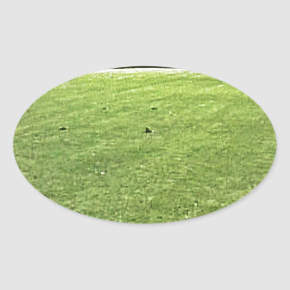 Stratford-upon-Avon England On-The-Green jGibney Oval Sticker