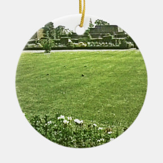 Stratford-upon-Avon England On-The-Green jGibney Round Ceramic Ornament