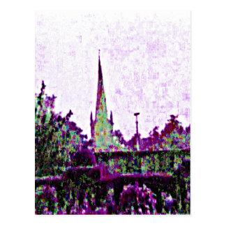 Stratford-upon-Avon England Purple Garden jGibney Postcard