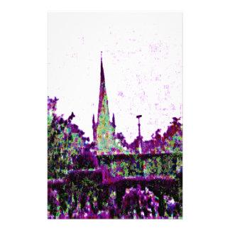 Stratford-upon-Avon England Purple Garden jGibney Stationery Paper