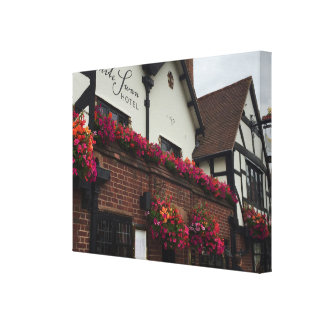 Stratford Upon Avon England UK Tudor Hotel Photo Canvas Print
