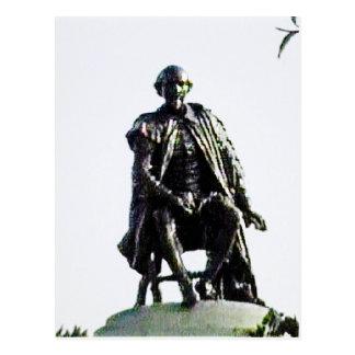 Stratford-upon-Avon Shakespeare Statue jGibney Postcard