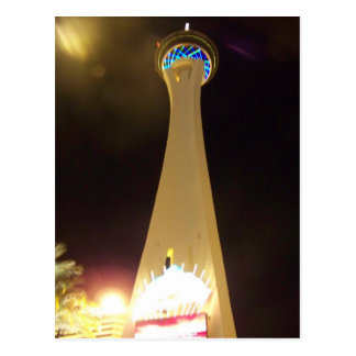 Stratosphere at Night - Las Vegas Postcards