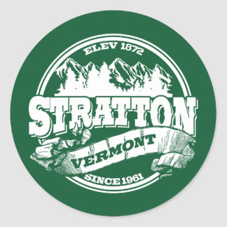 Stratton Old Circle Green Classic Round Sticker