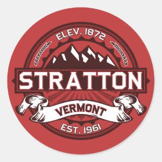 Stratton Red Classic Round Sticker