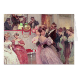 Strauss and Lanner - The Ball, 1906 Card
