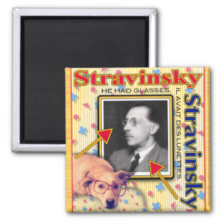 STRAVINSKY SQUARE MAGNET