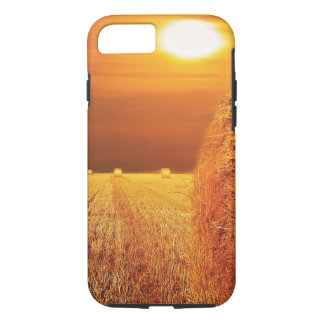 Straw Bales Sunset iPhone 7 Case